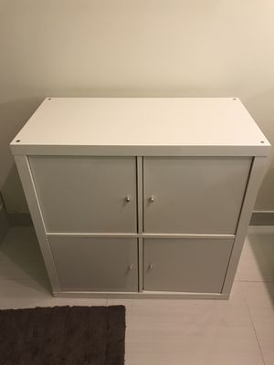 White Shelving unit Furniture 4 Doors for Sale in Miami, FL