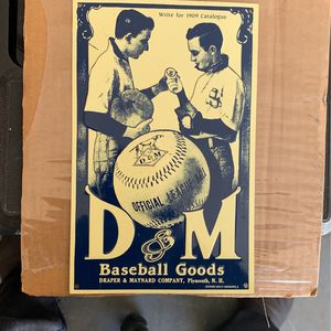 D & M Baseball goods metal /tin Sign 6 X 9 1/2 Great Condition for Sale in Apple Valley, CA
