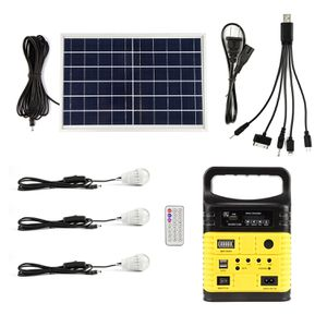 Solar generator lighting home system kit 12v 10W with solar panel and 3 USB lamps for Sale in Pompano Beach, FL
