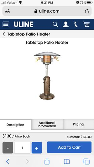 Tabletop heater for Sale in Carol Stream, IL
