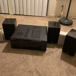 RCA STAV 4180 5.1 Channel Receiver with Surround Speakers for Sale in San Diego,  CA