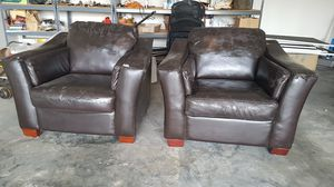 Free faux leather armchairs for Sale in Kirkland, WA