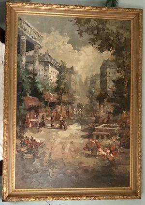 "American Impressionist William H. Original 56""X81""inch for Sale in Rockville, MD"