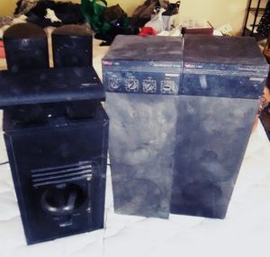 6 Speaker Surround Sound System with Sub Woofer for Sale in Lodi, CA