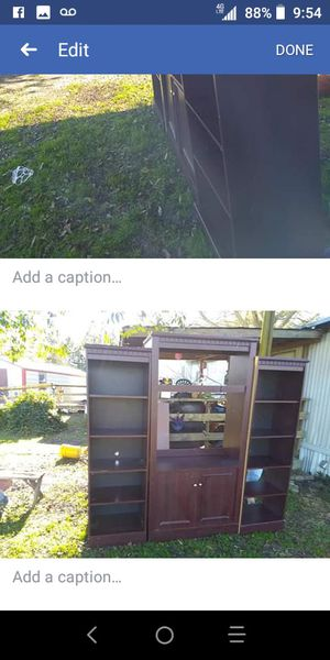 Entertainment center with matching bookshelves for Sale in Warrenville, SC