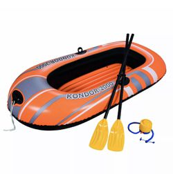 Bestway H2O Go 6 Feet 5 Inches x 45 Inches Kondor 2000 Inflatable Boat for Sale in Andover,  MA