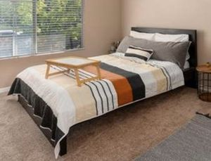 Queen Size Black IKEA Bed Frame for Sale in Anaheim, CA