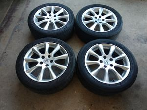 """2008 Acura tsx wheels and tires 17"""" 5x114.3 for Sale in Chino, CA"""