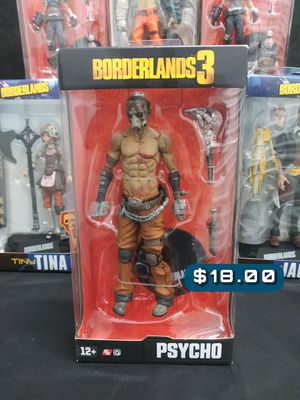 2019 McFarlane Toys. 2k Gearbox Borderlands Psycho Action Figure SAS#BLS for Sale in Alameda, CA