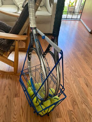Wilson hyper hammer 4.3 Tennis Racket and ball basket for Sale in Albany, CA