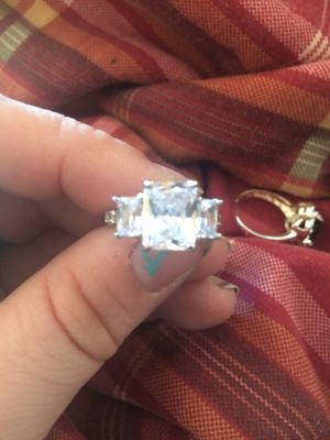 3 Genuine amethyst set in sterling silver ring for Sale in Terre Haute, IN