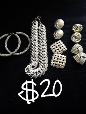 PICK UP SALE ONLY...all new silver jewelry bundle for Sale in Suitland, MD