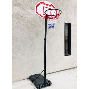 "$50 New in box junior basketball hoop 28""x19"" backboard adjustable rim height 5-7ft kids outdoor sports for Sale in Whittier, CA"