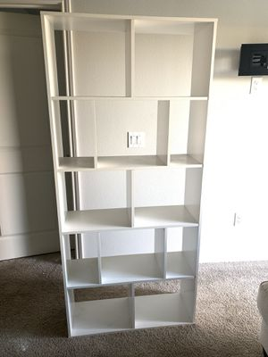 White cube bookcase for Sale in Frisco, TX