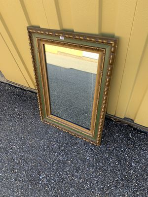 Green and gold wall mirror for Sale in Sykesville, MD