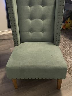 Vintage Style Chair Olive Green for Sale in Grand Prairie,  TX