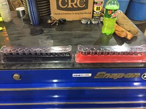 Snap on 6 point socket sets with magnetic trays for Sale in Chantilly, VA