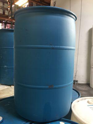 Empty 55 gallon plastic drums (non-food grade) for Sale in Arlington, WA
