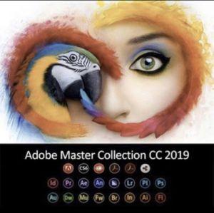 Adobe Master Collection 2019 Photoshop Illustrator Premiere Pro Lightroom for Sale in Cerritos, CA