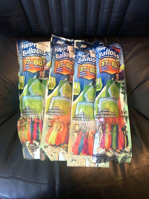 Water balloons 4 packs