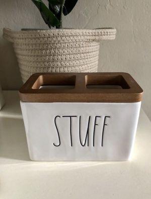 New RAE DUNN Ceramic & Wood Stuff Bathroom Organizer for Sale in San Bernardino, CA