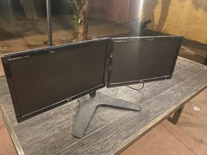 Dual LG monitors with 1 power cable only and stand for Sale in Los Angeles, CA