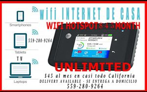 Internet wifi modem hotspot wifi includes first month service x45 monthly for Sale in Visalia, CA