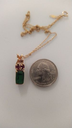 Tourmaline and sapphire pendant for Sale in Kennewick, WA