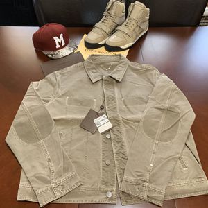 Louis Vuitton Trompe L'Oeil Denim Trucker Jacket. Size 58 for Sale in Milwaukee, WI