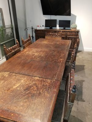 Beautiful Spanish Colonial Dining Table, Buffet and Chairs for Sale in Denver, CO