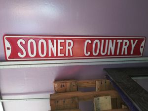 Metal Sooner Country sign for Sale in Oklahoma City, OK