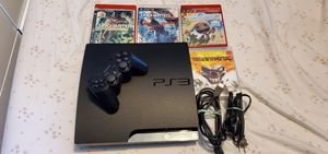 Playstation 3 with cables 1 control & 4 Games for Sale in Los Angeles, CA