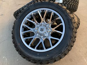 "20"" Dropstars Chevy Silverado Sierra Hummer H2 Wheels 8x6.5 Tires Rims for Sale in Rio Linda, CA"