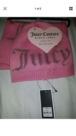 Juicy hat and scarf set for Sale in Lakeville, MA