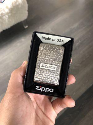 Supreme Zippo Diamond Plate for Sale in Chula Vista, CA