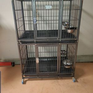 Dog Kennel Double stacked for Sale in Sacramento, CA