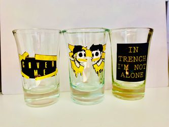 Twenty One Pilots, TRENCH shot glasses, set of 3 for Sale in Waterloo,  IL