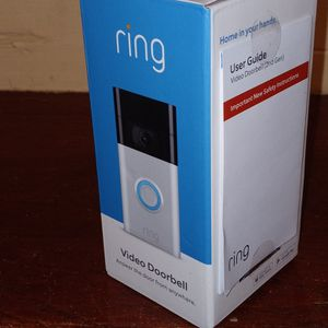 $75. New. Ring 1080p Wi-Fi Video Wired and Wireless Smart Video Door Bell Camera, Works with Alexa, Satin Nickel (2020 Release) for Sale in Jonesboro, GA