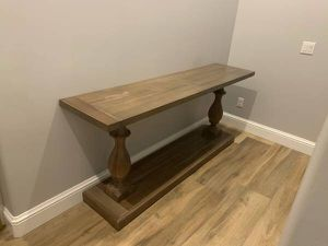 Restoration Hardware authentic balustrade console table for Sale in Goodyear, AZ