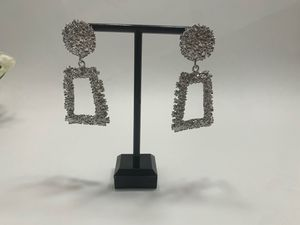 Gorgeous geometric-shaped Earrings, Silver color for Sale in Los Angeles, CA