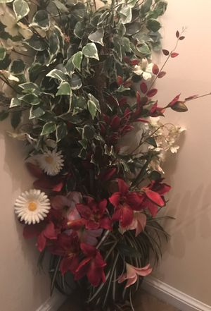 Artificial flowers in pot as shown for Sale in Aspen Hill, MD