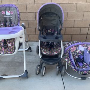 Baby Trend Hello Kitty Set for Sale in Fontana, CA
