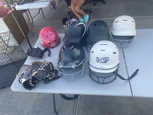 Softball Helmet and gloves for Sale in Sun City, AZ