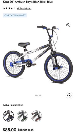 "Blue Kent 20"" Ambush Boy's BMX Bike for Sale in Arlington, VA"