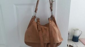 Brand new,Top Shop Brand, tan suede and leather messenger bag. Two straps, white hardware. for Sale in San Diego, CA