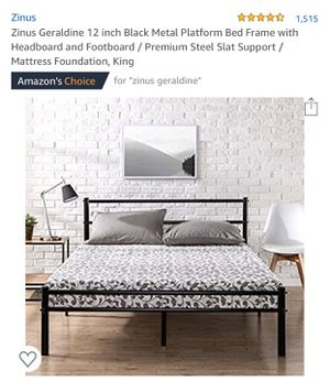 King Bed Frame for Sale in San Antonio, TX