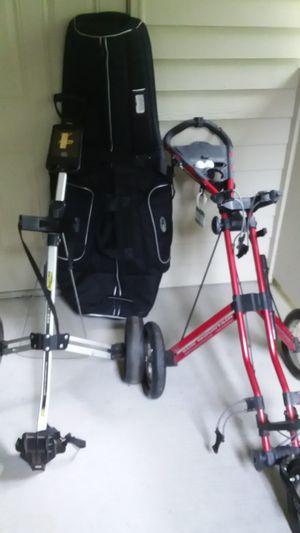 Sun Mt speed golf cart, Bag Boy golf cart, Bag Boy golf bag travel bag for Sale in Gig Harbor, WA