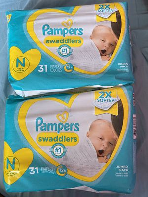 Pampers diapers size newborn 2 for $14 for Sale in Huntington Beach, CA