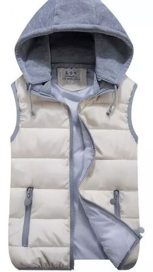 Winter Vest For Men And Women Hooded Sleeveless Soft Warm Jacket Sweater Zipper size as kids 12-14 for Sale in Inman, SC