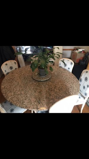 Granite Round Dining Room Table for Sale in Denver, CO